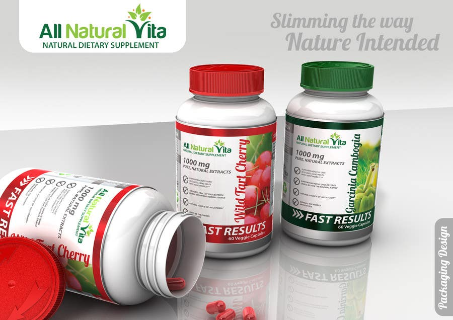 Proposition n°                                        36                                      du concours                                         Design a supplement Bottle Label for All Natural Vita