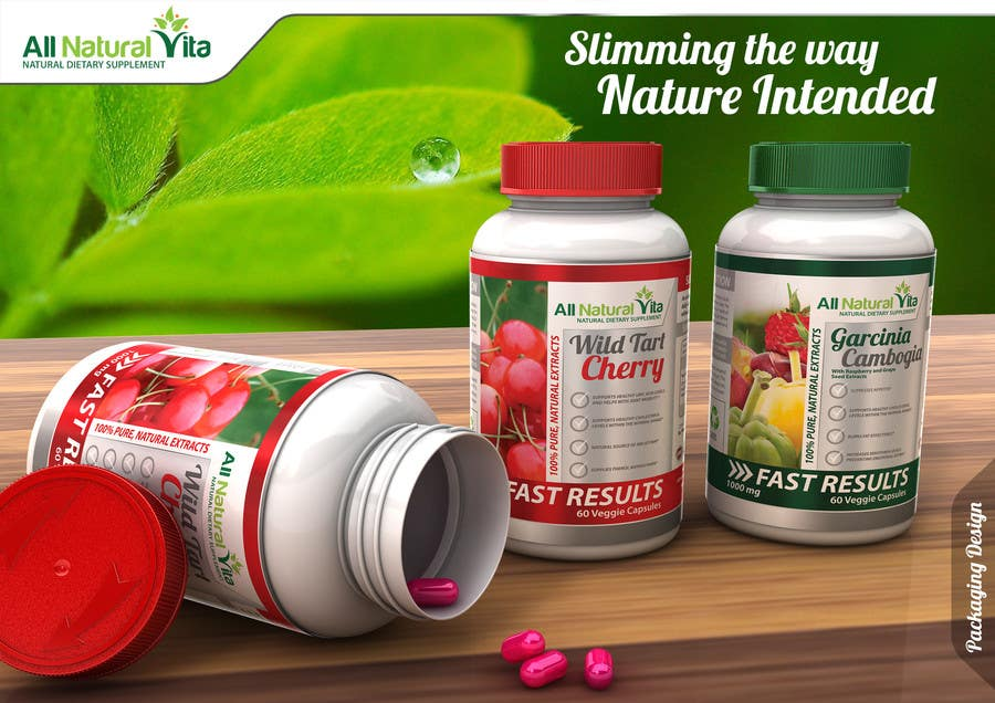 Proposition n°                                        50                                      du concours                                         Design a supplement Bottle Label for All Natural Vita