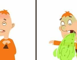 nº 23 pour Small cartoonish and funny animation of a person in different stages of throwing up par idevisual
