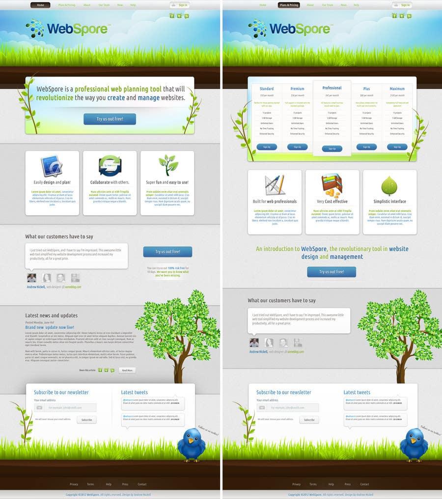 Contest Entry #13 for Website Design for WebSpore