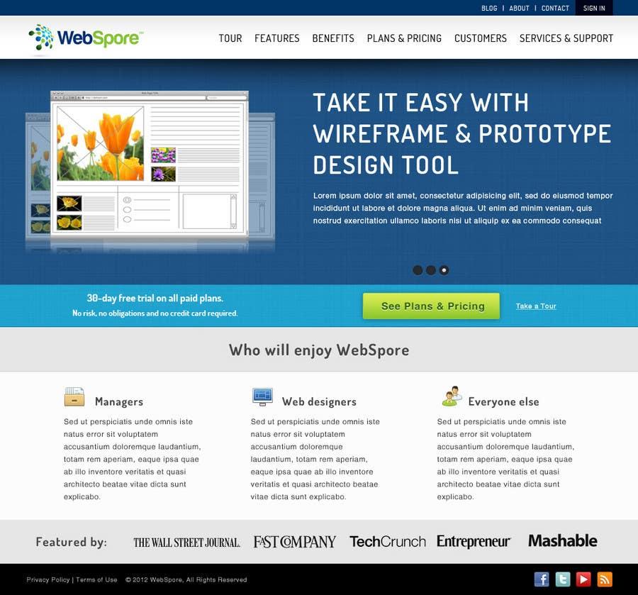 Bài tham dự cuộc thi #12 cho Website Design for WebSpore