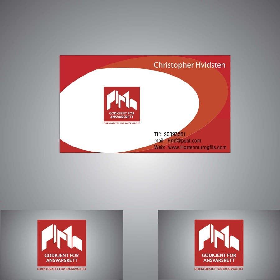 Inscrição nº                                         27                                      do Concurso para                                         Design noen visittkort for Horten Mur og Flis AS