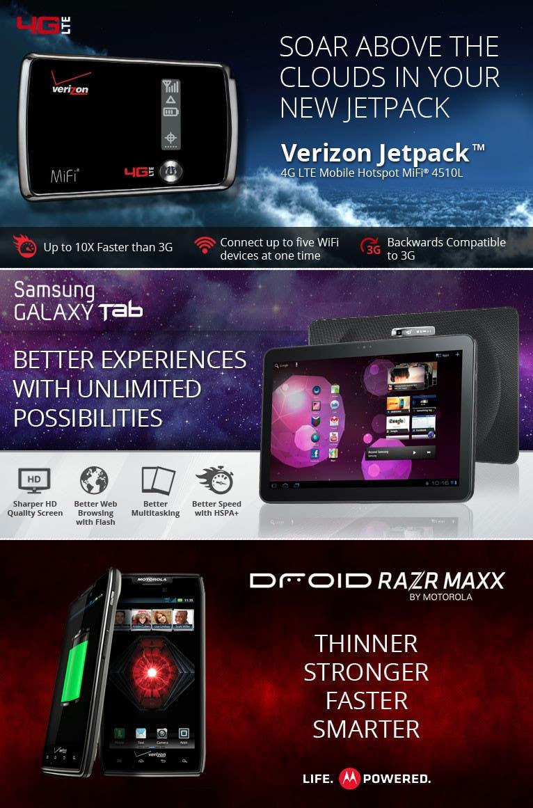 Penyertaan Peraduan #                                        35                                      untuk                                         Advertisement Design for Verizon Wireless Premium Retailer- The Wireless Center