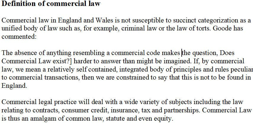 commercial law essay answers