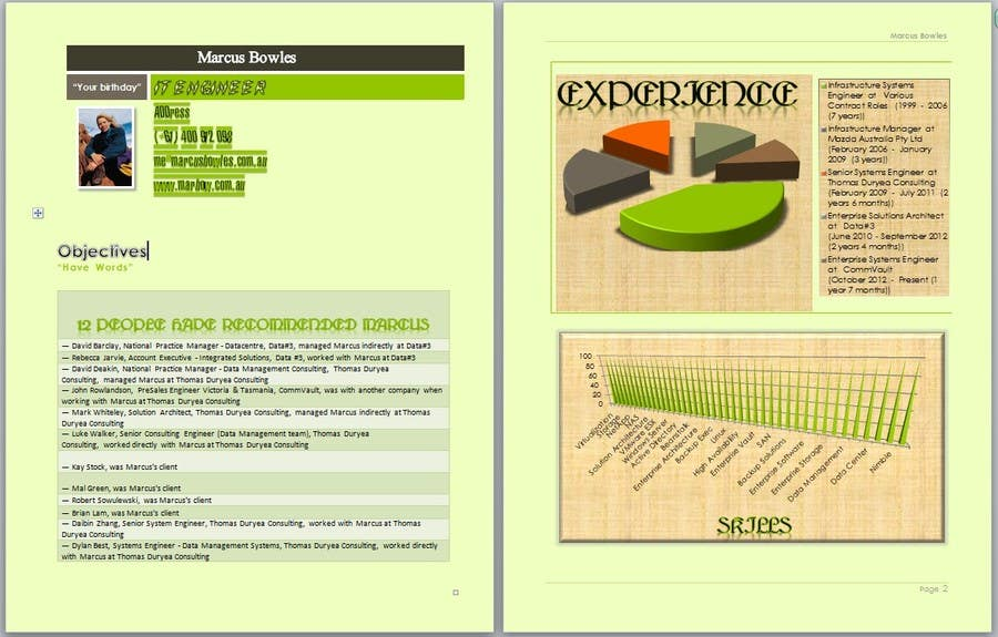 #1 for Create a visually appealing resume infographic by IAlazbawy