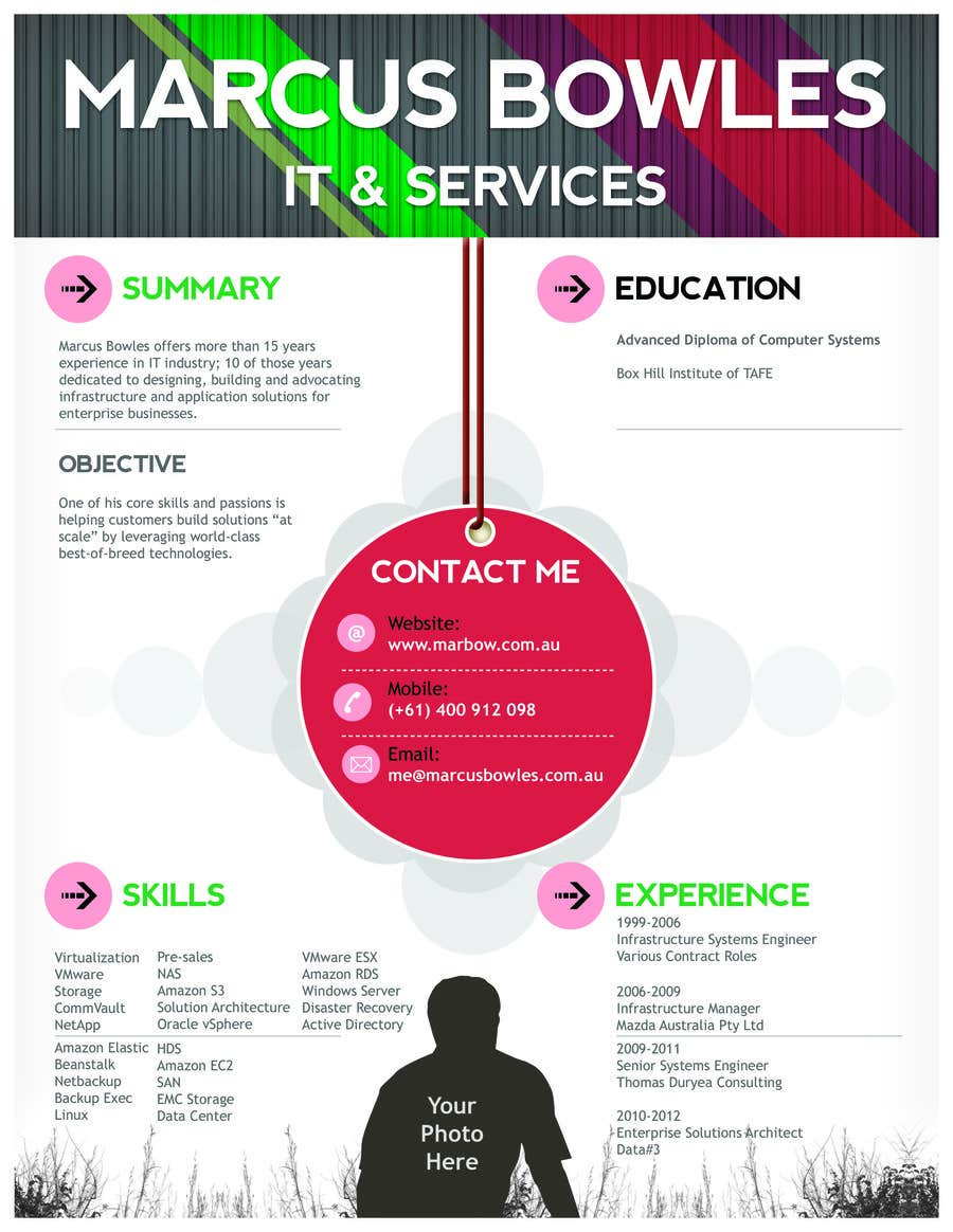 #4 for Create a visually appealing resume infographic by hassaanid2012