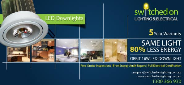 Конкурсная заявка №25 для Advertisement Design for Switched On Lighting & Electrical