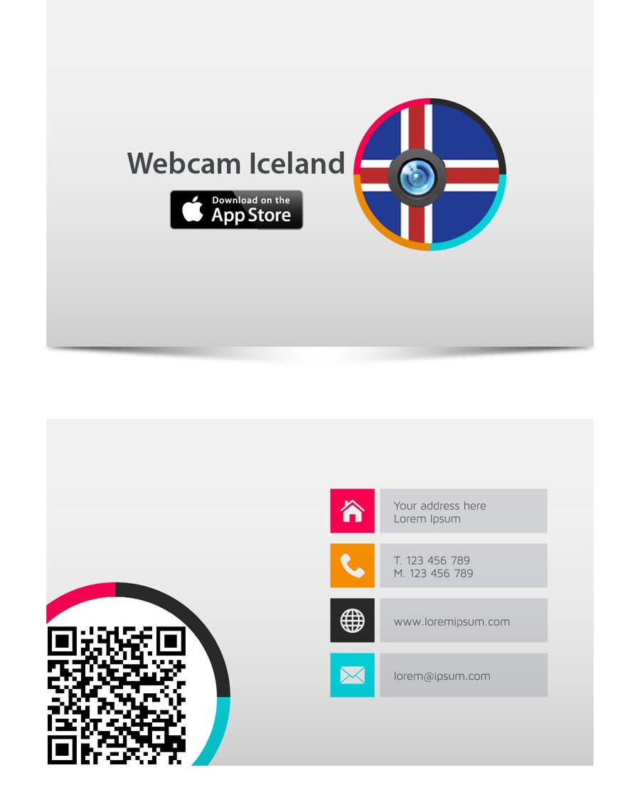 Entry 2 by octosys07 for design some business cards for webcam contest entry 2 for design some business cards for webcam iceland iphone app reheart