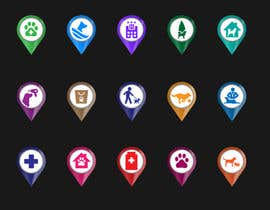 #40 para Redesign 15 Map Markers for a Locator Page por praxlab