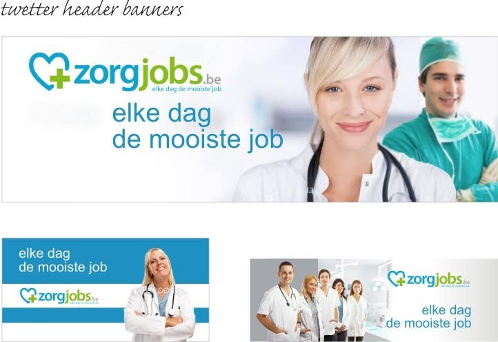 #8 for Ontwerp een Banner for facebook, twitter, linkedin header for a health care jobboard by nicoscr