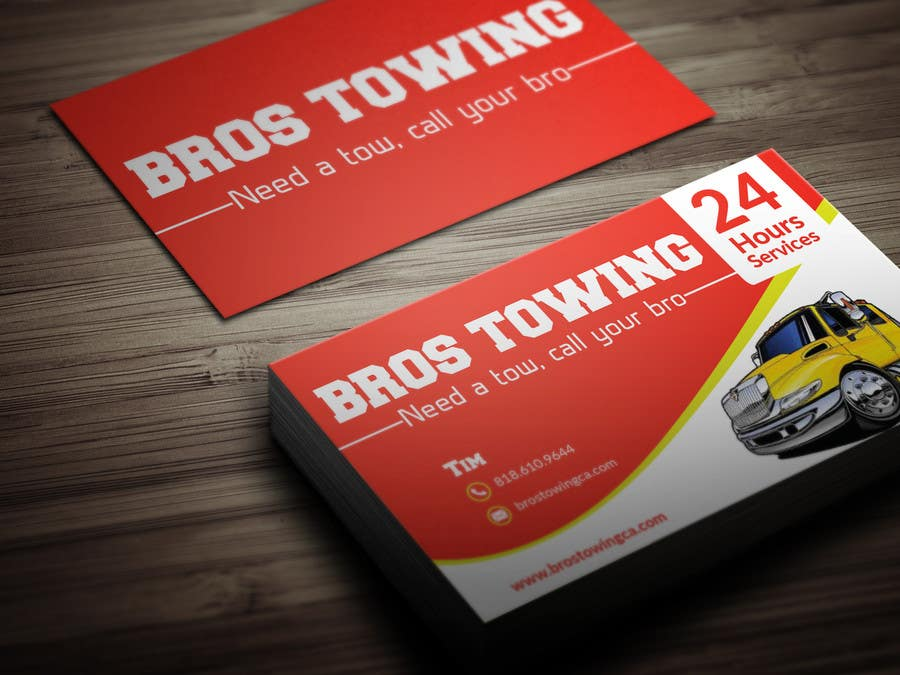 Entry #50 by BikashBapon for Tow truck business cards | Freelancer