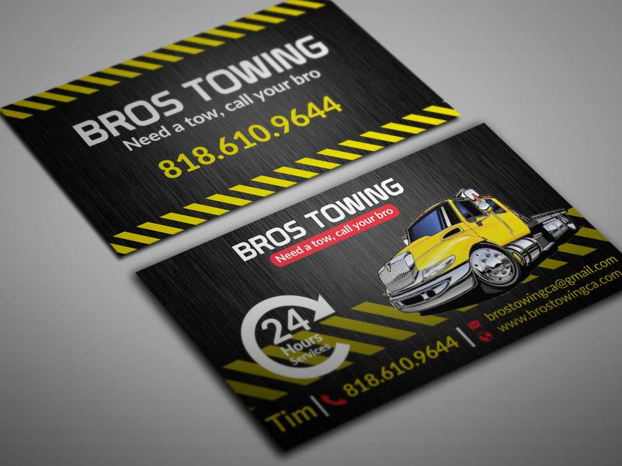 Contest Entry 81 For Tow Truck Business Cards