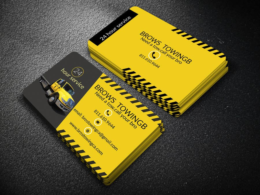 Entry #83 by fazal97 for Tow truck business cards | Freelancer