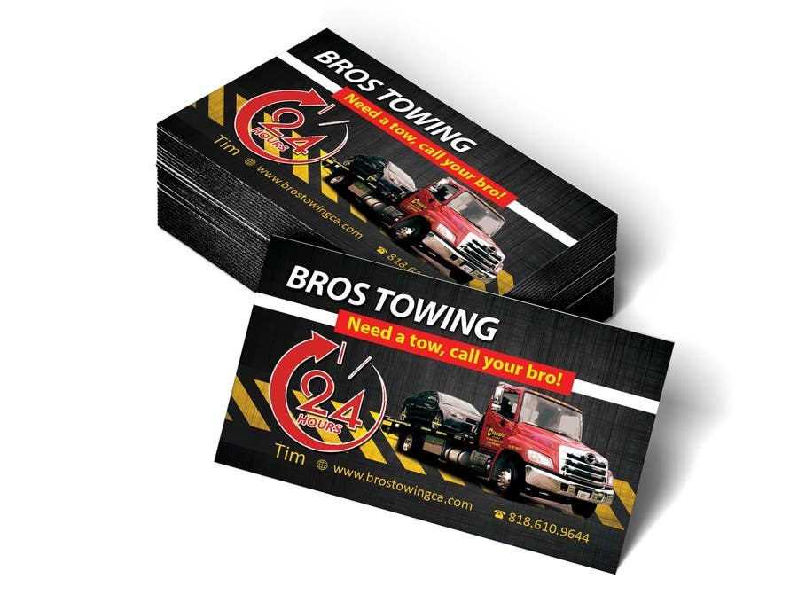 Entry #36 by leijene for Tow truck business cards | Freelancer