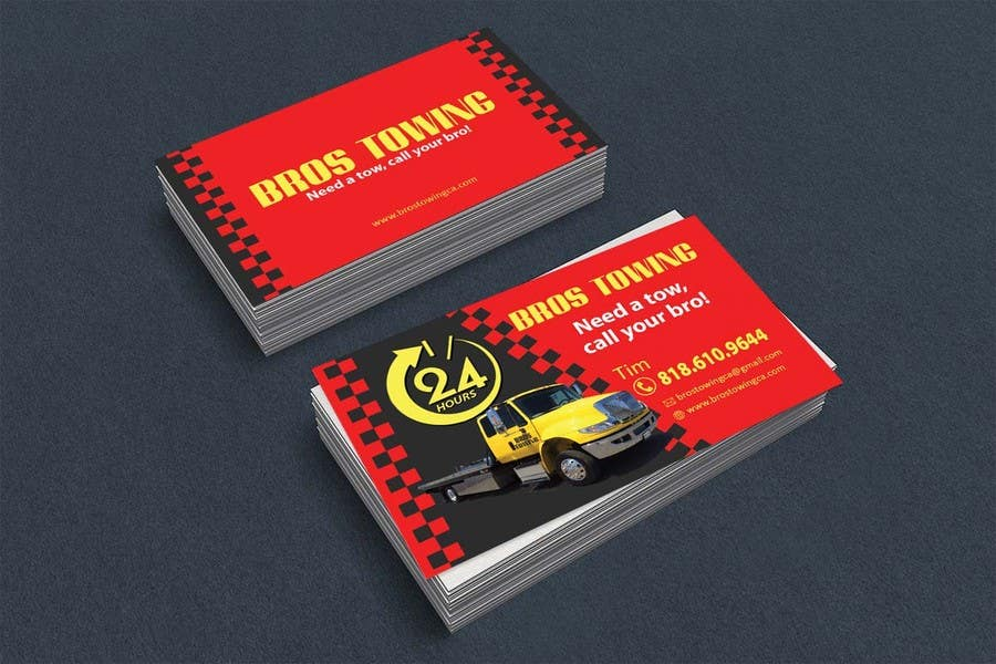 Entry #52 by leijene for Tow truck business cards | Freelancer