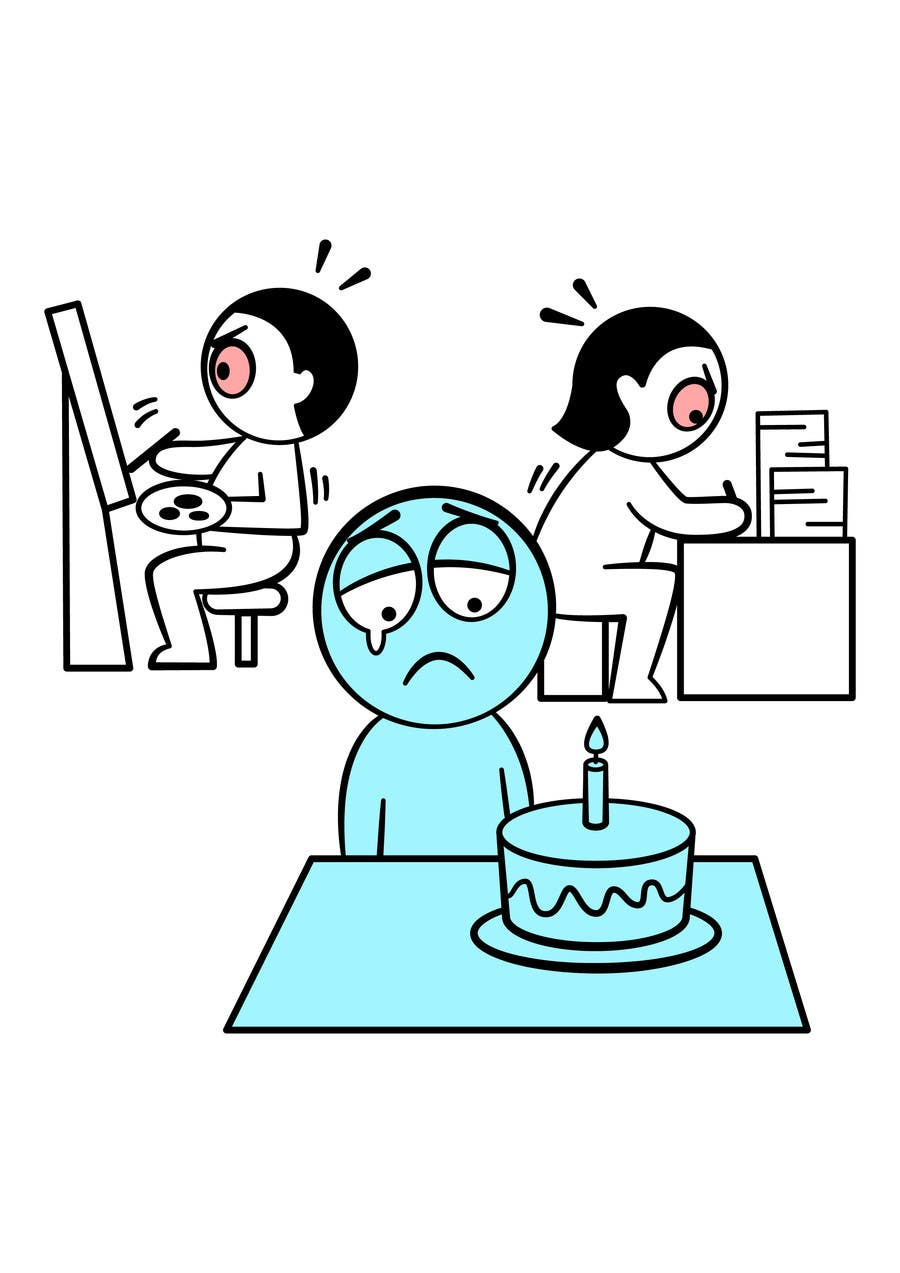 Bài tham dự cuộc thi #                                        9                                      cho                                         Workaholic illustration or cartoon. Design single-panel illustration or cartoon symbolizing a Workaholic (multiple winners possible).
