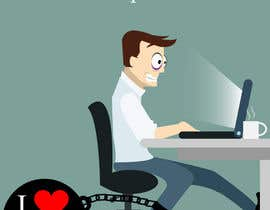 #19 cho Workaholic illustration or cartoon. Design single-panel illustration or cartoon symbolizing a Workaholic (multiple winners possible). bởi samuelsz