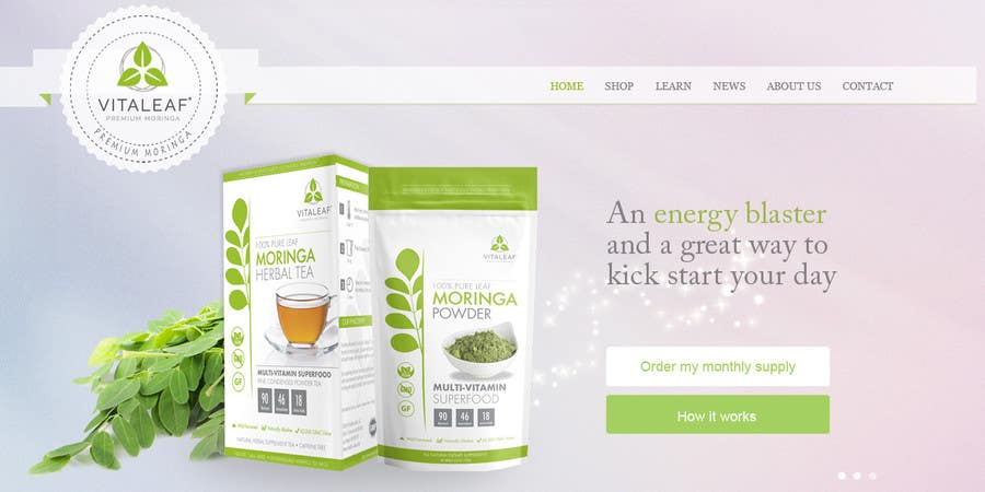 #12 for Customize a Shopify Template for Health Food Supplement Website Mockup by TheWebChef