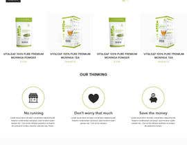 #9 for Customize a Shopify Template for Health Food Supplement Website Mockup by kenqdesign