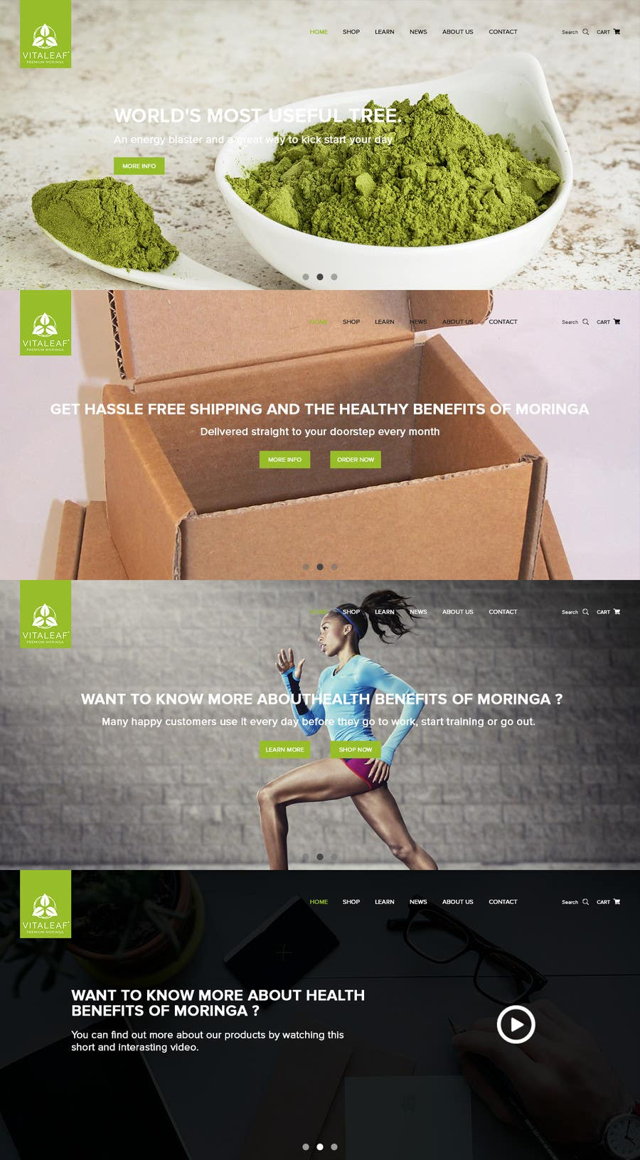 #19 for Customize a Shopify Template for Health Food Supplement Website Mockup by kenqdesign