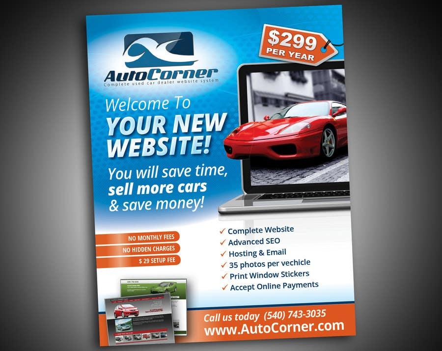 Kilpailutyö #                                        18                                      kilpailussa                                         Flyer Design for AutoCorner