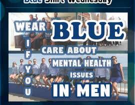 #1 para Design an A4 flyer | Blue Shirt Wednesday | 2016 | 02 de tudgabriel