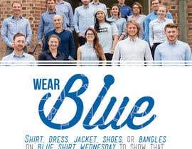 #8 para Design an A4 flyer | Blue Shirt Wednesday | 2016 | 02 de AmielM