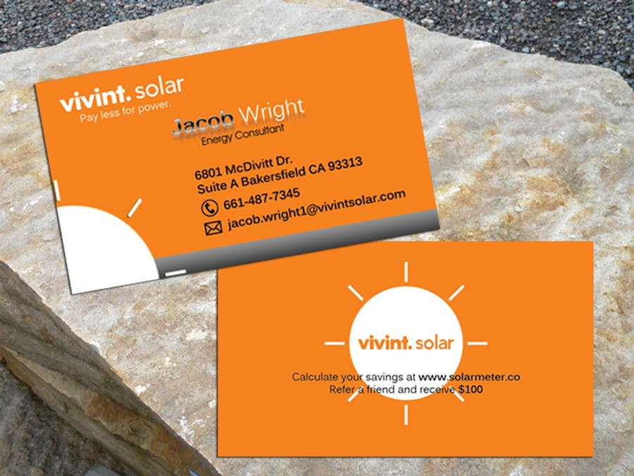 Entry #20 by rafie01 for Design some Business Cards for Vivint ...