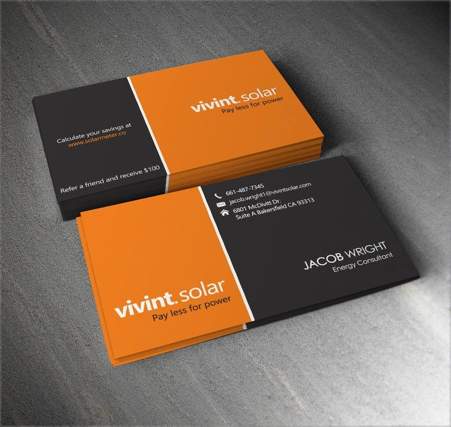 Entry 24 by cuedesigns for design some business cards for vivint contest entry 24 for design some business cards for vivint colourmoves