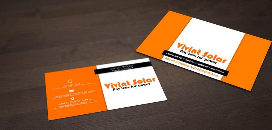Entry 11 by pointlesspixels for design some business cards for contest entry 11 for design some business cards for vivint reheart Images