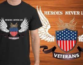 Nro 29 kilpailuun Design a T-Shirt that supports USA Military and/or USA Veterans käyttäjältä jonydep