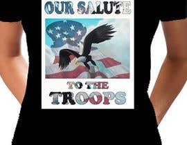 Nro 10 kilpailuun Design a T-Shirt that supports USA Military and/or USA Veterans käyttäjältä mil1989