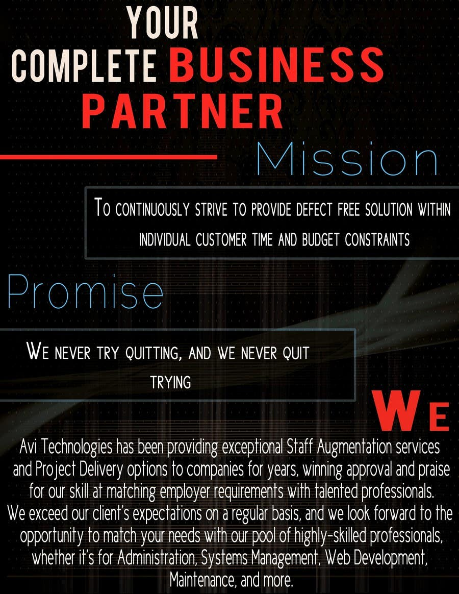 Konkurrenceindlæg #                                        29                                      for                                         Brochure Design for Avi Technologies Inc.