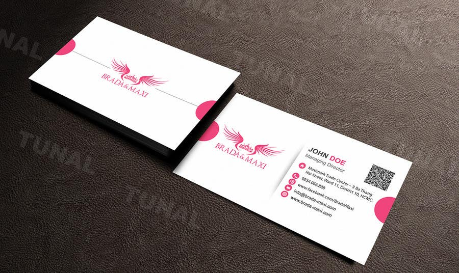 Entry 134 By Tunal For What Is A Simple But Creative Business Card For Fashion Shops Freelancer