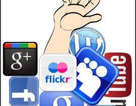 #11 para Social media addict. Design single-panel illustration or cartoon symbolizing a social media addict (multiple winners possible). por portretv3