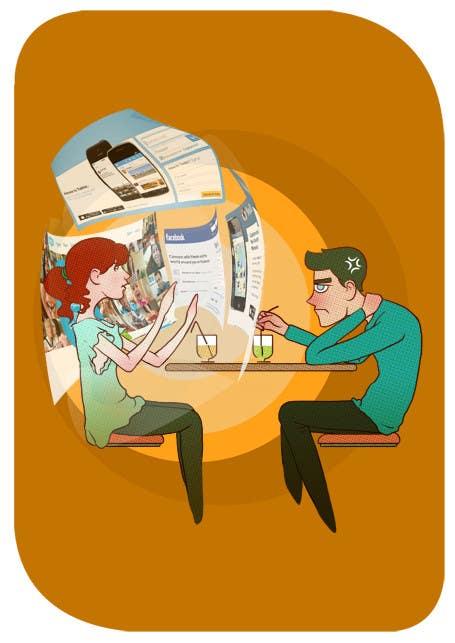 Inscrição nº                                         3                                      do Concurso para                                         Social media addict. Design single-panel illustration or cartoon symbolizing a social media addict (multiple winners possible).