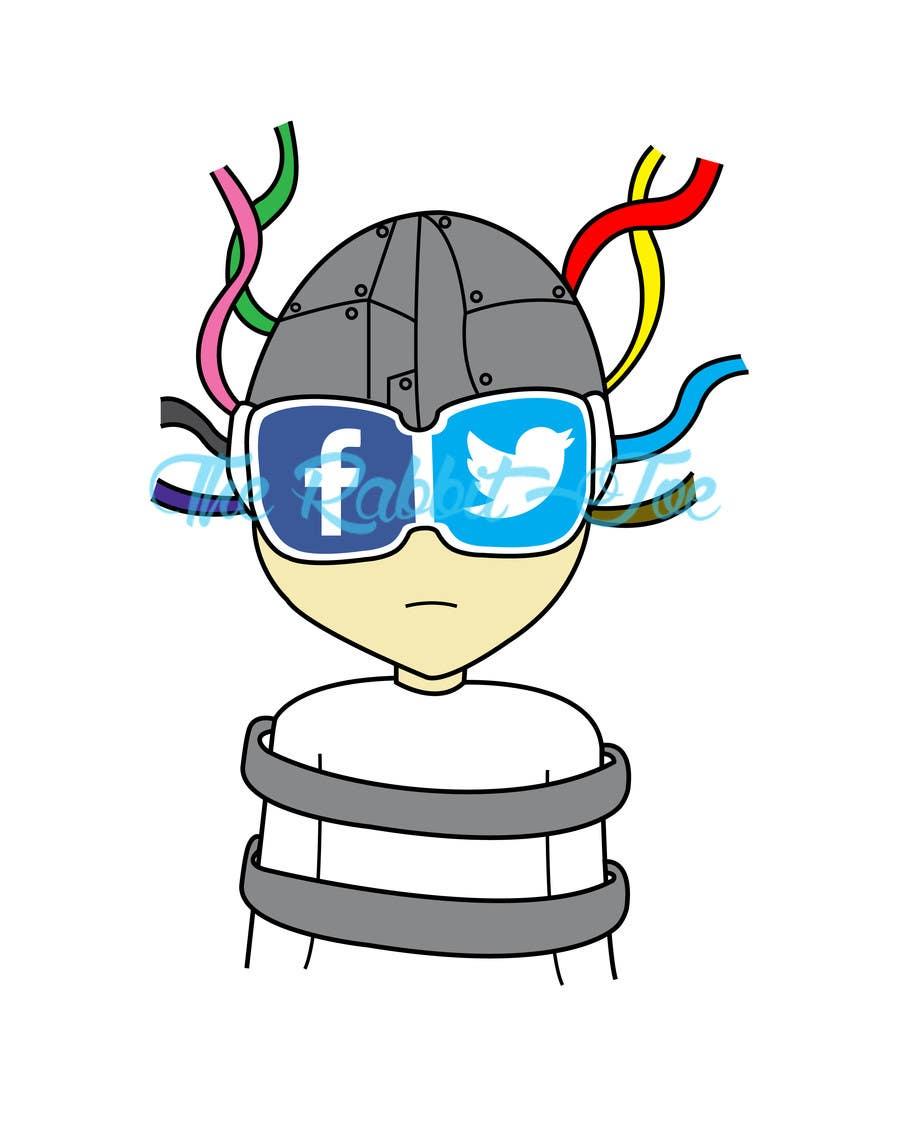 Inscrição nº                                         20                                      do Concurso para                                         Social media addict. Design single-panel illustration or cartoon symbolizing a social media addict (multiple winners possible).