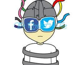 #20 para Social media addict. Design single-panel illustration or cartoon symbolizing a social media addict (multiple winners possible). por therabbitjoe