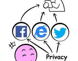 #15 para Social media addict. Design single-panel illustration or cartoon symbolizing a social media addict (multiple winners possible). por satherghoees1
