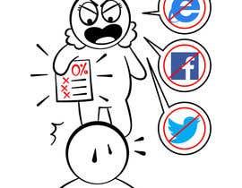 #16 para Social media addict. Design single-panel illustration or cartoon symbolizing a social media addict (multiple winners possible). por satherghoees1