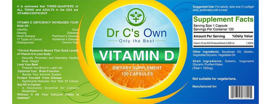Konkurrenceindlæg #                                        8                                      for                                         Doctor C's Own Health Supplements Label Design Contest!