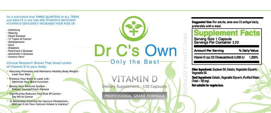 Konkurrenceindlæg #                                        3                                      for                                         Doctor C's Own Health Supplements Label Design Contest!