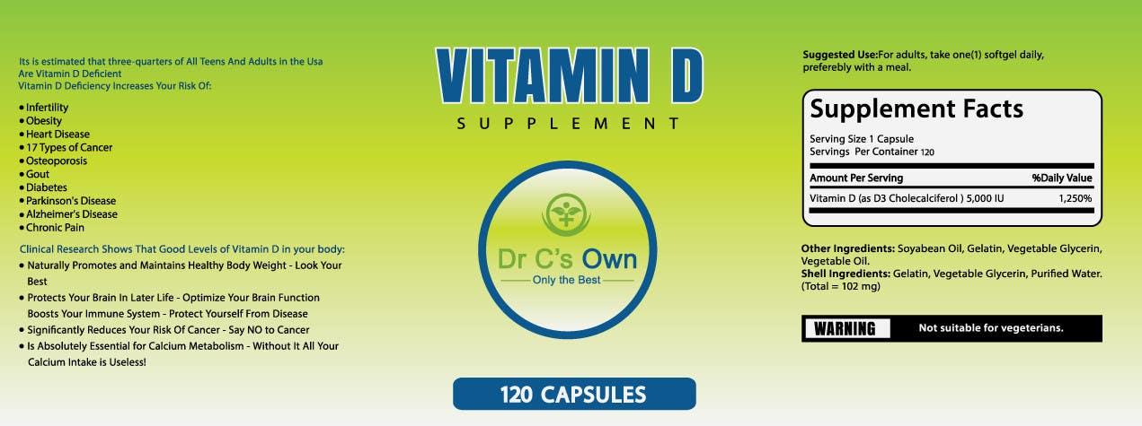 Konkurrenceindlæg #                                        18                                      for                                         Doctor C's Own Health Supplements Label Design Contest!