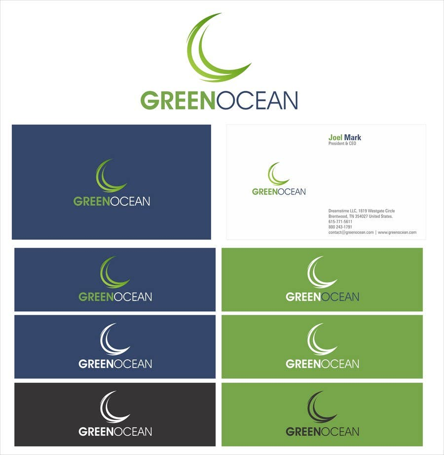Penyertaan Peraduan #                                        723                                      untuk                                         Logo and Business Card Design for Green Ocean