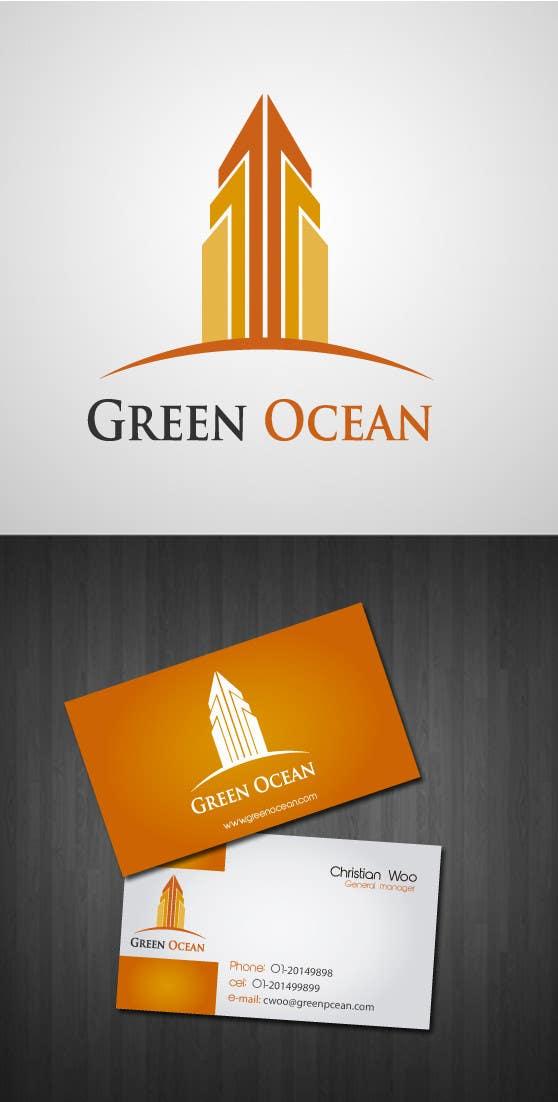 Penyertaan Peraduan #                                        439                                      untuk                                         Logo and Business Card Design for Green Ocean