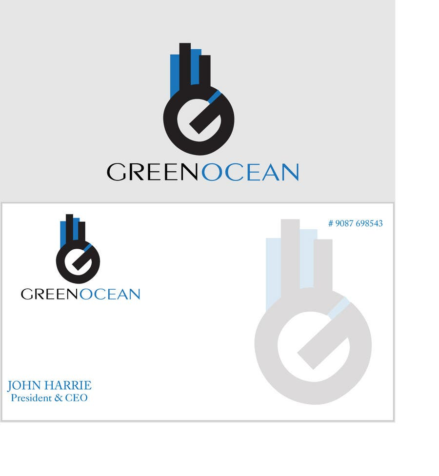 Penyertaan Peraduan #                                        741                                      untuk                                         Logo and Business Card Design for Green Ocean