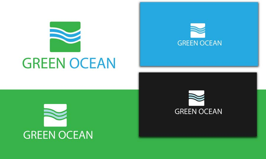 Penyertaan Peraduan #                                        698                                      untuk                                         Logo and Business Card Design for Green Ocean