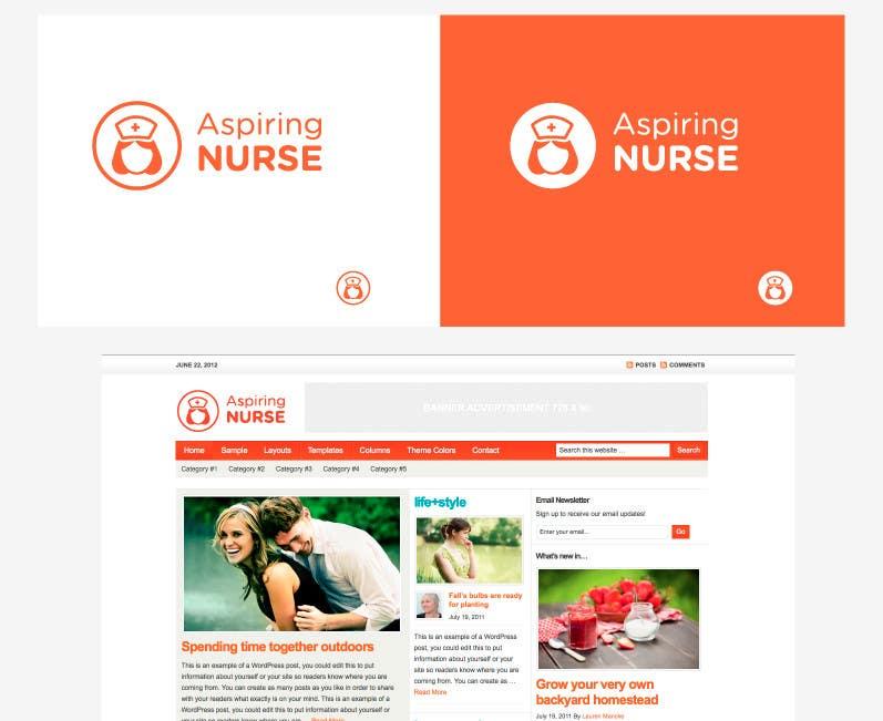Kilpailutyö #                                        90                                      kilpailussa                                         Logo design for aspiring nurse