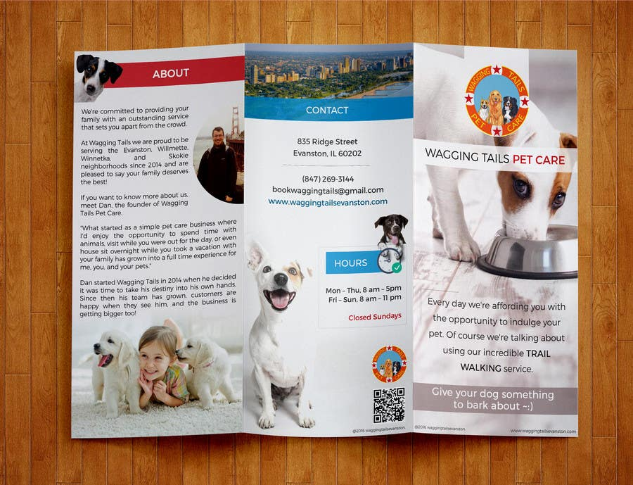 Contest Entry #                                        7                                      for                                         Design a brochure for a pet care company