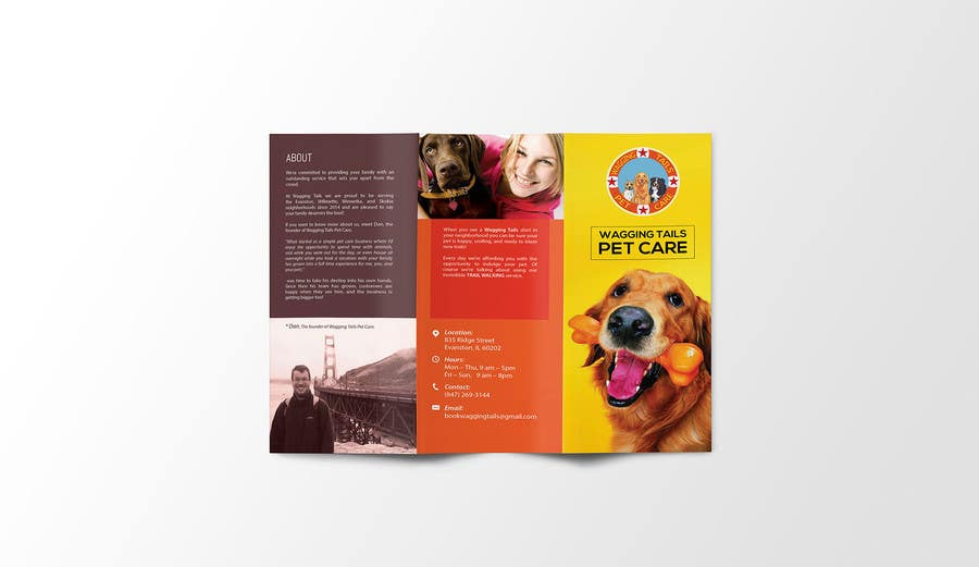 Contest Entry #                                        8                                      for                                         Design a brochure for a pet care company